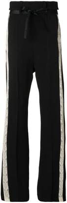 Ann Demeulemeester Victoria flared lace detail trousers