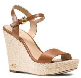 MICHAEL Michael Kors Jill Espadrille Wedge Leather Sandals
