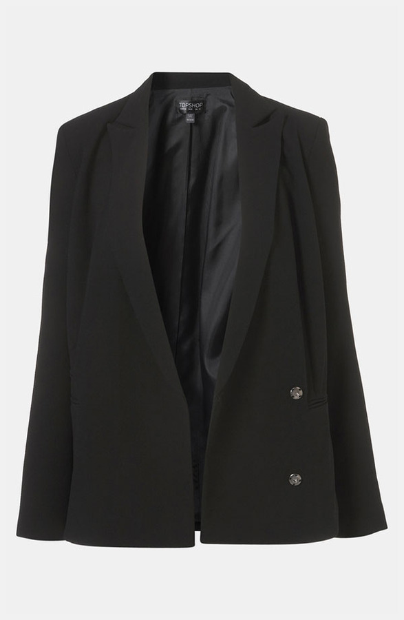 Topshop Boxy Double Breasted Blazer