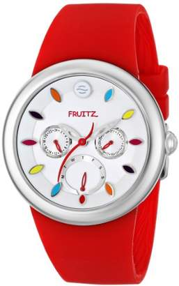 Philip Stein Teslar Fruitz by Unisex F43S-TF-R Stainless Steel Watch with Red Band