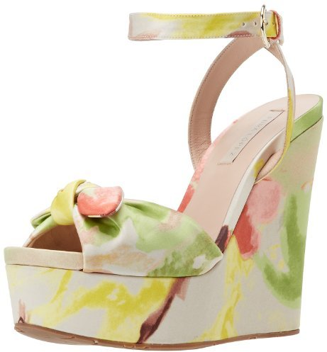 Pura Lopez Women's Ankle Strap Peep-Toe Wedge Sandal