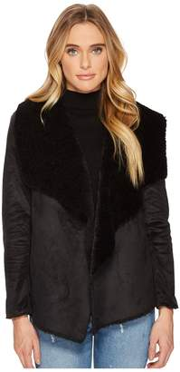 BB Dakota Benette Faux Suede Sherling Jacket Women's Coat