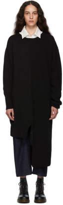 Y's Ys Black Knit Panel Dress