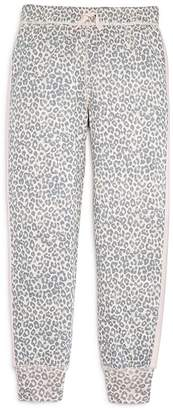 Splendid Girls' Leopard-Print Jogger Pants, Big Kid - 100% Exclusive