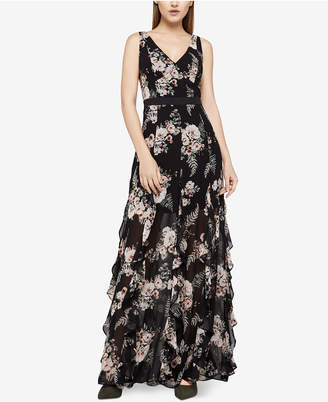 BCBGeneration Floral-Print Ruffled Maxi Dress
