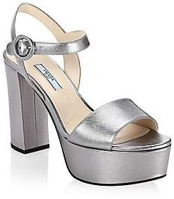 Prada Women's Metallic Platform Sandals