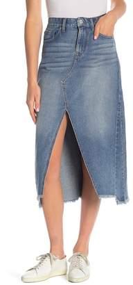 William Rast Cutout Full Length Denim Skirt