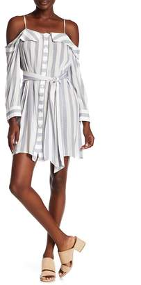 Flying Tomato Striped Button Down Dress