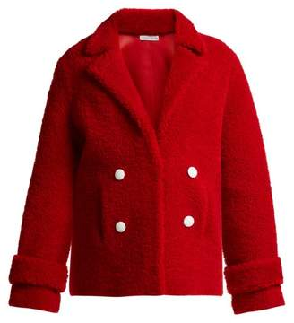 Inès & Marèchal Dorota Double Breasted Shearling Jacket - Womens - Red