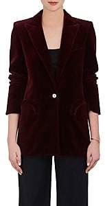 BLAZÉ MILANO Women's Everyday Velvet One-Button Blazer - Wine