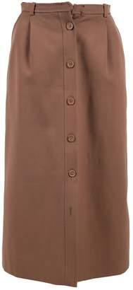 Saint Laurent Brown Wool Skirts