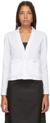 Thom Browne White Sheer Back Cardigan