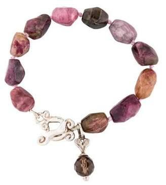 Erica Courtney Tourmaline & Smoky Quartz Bead Bracelet