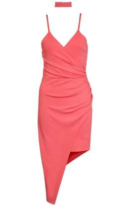 Quiz Coral Asymmetric Choker Dress