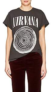 Madeworn Women's Band-Graphic Cotton T-Shirt - Black