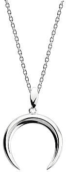Kit Heath Twine Thorn Crescent Sterling Silver Pendant Necklace, Silver