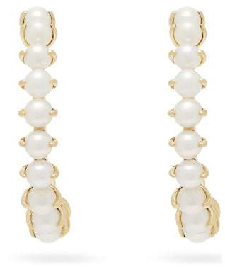A.N.A Khouri - Leah 18kt Gold & Pearl Earrings - Womens - Pearl