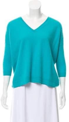 Autumn Cashmere V-Neck Rib Knit Sweater