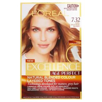 L'Oreal Excellence Age Perfect 7.32 Dark Gold Rose Blonde 1 pack