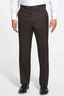 JB Britches Flat Front Worsted Wool Trousers