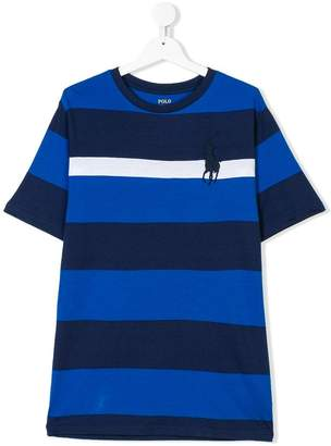 Ralph Lauren TEEN striped logo T-shirt