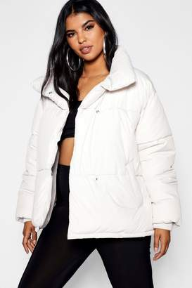 boohoo Plus Oversized Soft Puffer Jacket