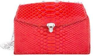VBH Python Triple Flap Crossbody Bag