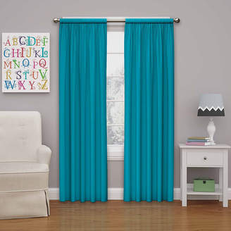 Eclipse Kids Microfiber Rod-Pocket Thermal Blackout Curtain Panel