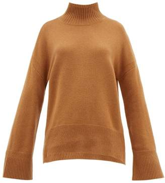 Frame High Neck Cashmere Sweater - Womens - Camel