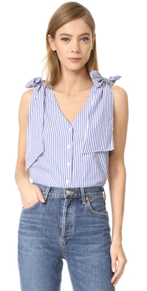 J.O.A. Sleeveless Woven Top $65 thestylecure.com