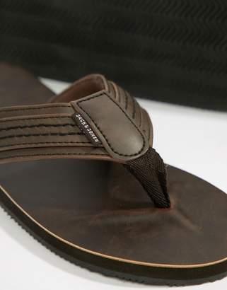 Jack and Jones Leather Sandal