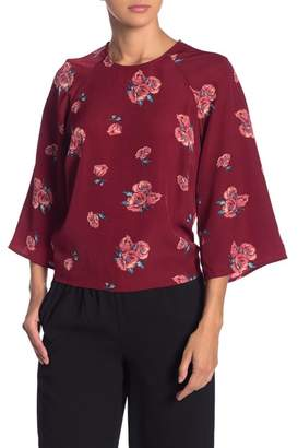 CODEXMODE Kimono Sleeve Tie Back Blouse