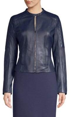 BOSS Sadeno Quilted Leather Jacket
