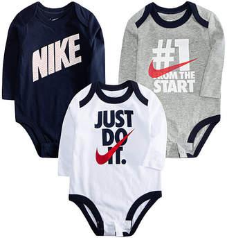 Nike Baby Boy Ecom Sets Fall 3-pc. Bodysuit Set-Baby Boys