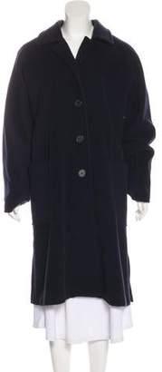 Halston Wool Long Coat