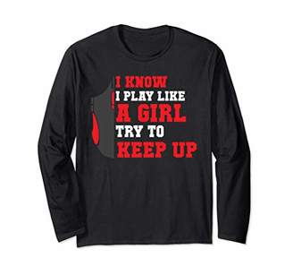 Play Like A Girl Video Game Gaming Women Funny JT Long Sleeve T-Shirt