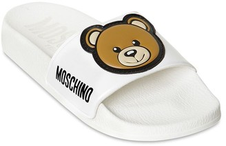 Moschino Teddy Bear Rubber Slide Sandals