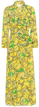 Diane von Furstenberg Printed cotton and silk maxi dress