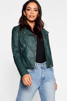 boohoo Vegan Leather Biker Jacket