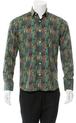 Fendi Abstract Print Button-Up Shirt w/ Tags