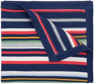 Elegant Baby Striped Cotton Blanket