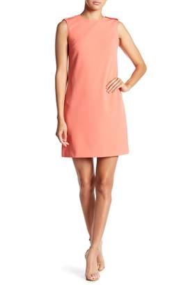 Modern American Designer Shoulder Epaulet Shift Dress