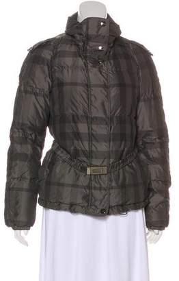 Burberry Plaid Down Jacket