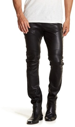 John Varvatos Collection Motor Cross Skinny Fit Genuine Leather Pant $1,998 thestylecure.com