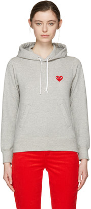 Comme des Garçons Play Grey Heart Patch Hoodie $290 thestylecure.com