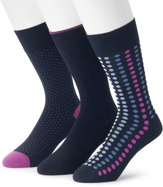 Marc Anthony Men's 3-pack Comfort Cuff Circle Print Crew Socks