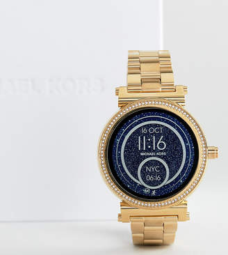 Michael Kors Mkt5021 Sofie Bracelet Smart Watch In Gold