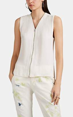 Rag & Bone Women's Valarie Zip-Front Sleeveless Top - White