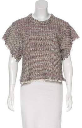 IRO Tweed Short Sleeve Top