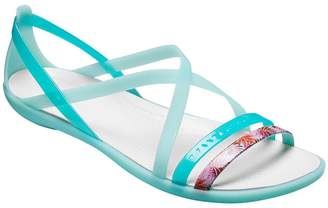 Crocs Sandals - Isabella Cut Graphic Strappy